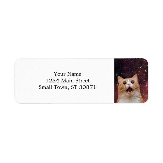 scaredy cat in space return address label