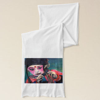 Scarf white with 'dance'