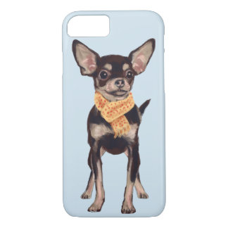 Scarfed Chihuahua (Background Color Editable) iPhone 8/7 Case