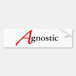 Scarlet A-gnostic Sticker Bumper Sticker