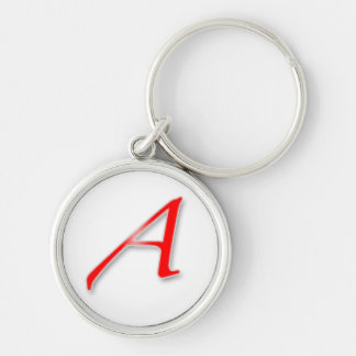 """Scarlet A"" Keychain"