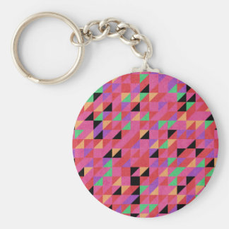 Scarlet and Crimson Triangles Key Ring