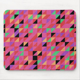 Scarlet and Crimson Triangles Mouse Pad
