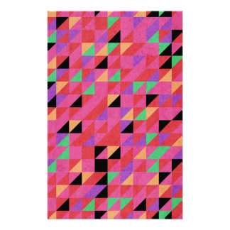 Scarlet and Crimson Triangles Stationery