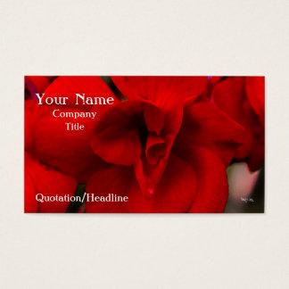 Scarlet Begonias Business Card