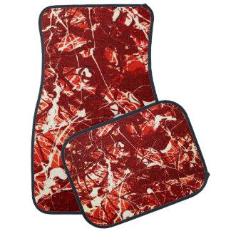 SCARLET BILLOWS (an abstract art design) ~ Floor Mat