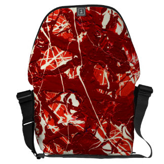 SCARLET BILLOWS (an abstract art design) ~ Courier Bags
