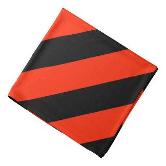 Scarlet Black California Striped Bandana