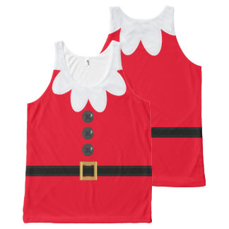 Scarlet Christmas in July Elf Novelty Tank Top