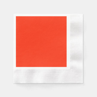 Scarlet Coined Cocktail Paper Napkin