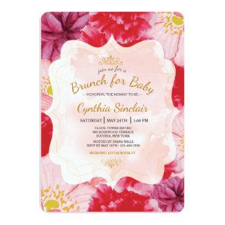 Scarlet Floral Invitation