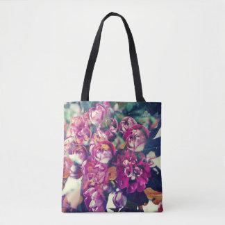 Scarlet Hawthorn Blossom Tote Bag