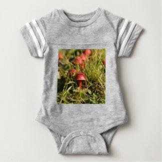 Scarlet hood fungi, Hygrocybe coccinea Baby Bodysuit