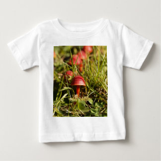 Scarlet hood fungi, Hygrocybe coccinea Baby T-Shirt