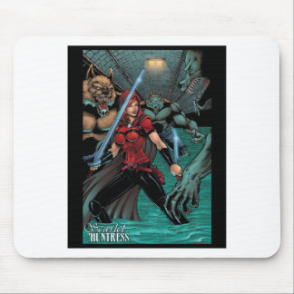 Scarlet Huntress vs Werewolves in the sewer Mouse Pad