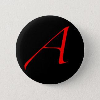 scarlet letter 6 cm round badge
