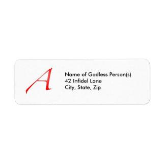 """Scarlet Letter """"A"""" Address Labels"""