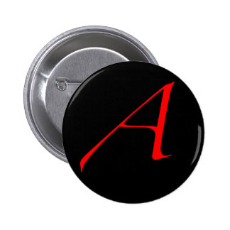 Scarlet letter A (for Atheist) 6 Cm Round Badge