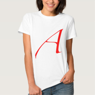 Scarlet letter A (for Atheist) Tshirt
