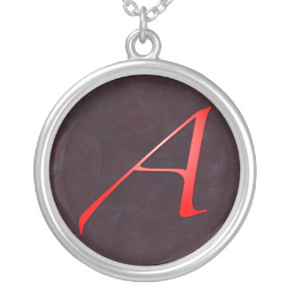 "Scarlet Letter ""A"" Pendant Necklace"