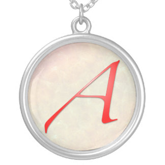 "Scarlet Letter ""A"" Sterling Silver Necklace"