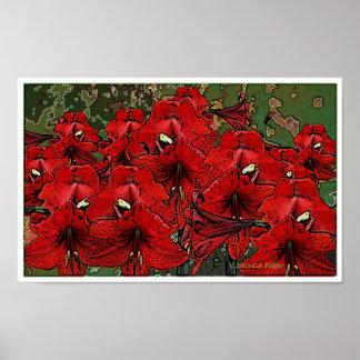 'Scarlet Lilies 1' Print