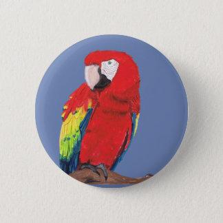 Scarlet Macaw 6 Cm Round Badge