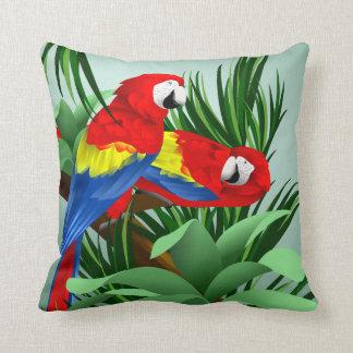 Scarlet Macaw Art Throw Pillow