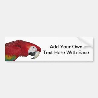 Scarlet Macaw Bumper Sticker