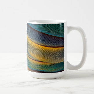 Scarlet Macaw feather close up Coffee Mug