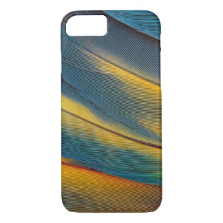 Scarlet Macaw feather close up iPhone 7 Case