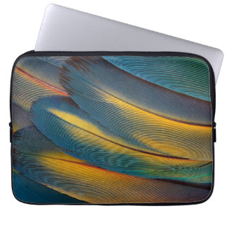 Scarlet Macaw feather close up Laptop Sleeve