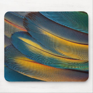 Scarlet Macaw feather close up Mouse Pad