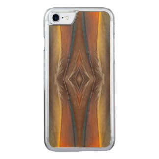 Scarlet Macaw feather design Carved iPhone 7 Case