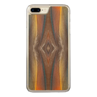Scarlet Macaw feather design Carved iPhone 7 Plus Case