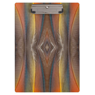 Scarlet Macaw feather design Clipboard
