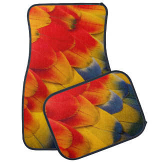 Scarlet Macaw feathers close-up Car Mat