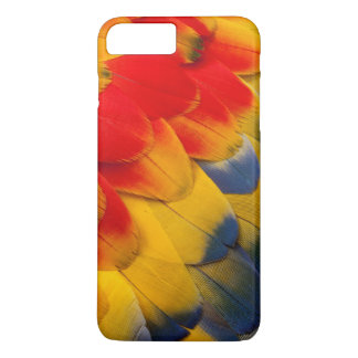 Scarlet Macaw feathers close-up iPhone 7 Plus Case