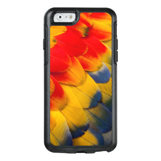 Scarlet Macaw feathers close-up OtterBox iPhone 6/6s Case