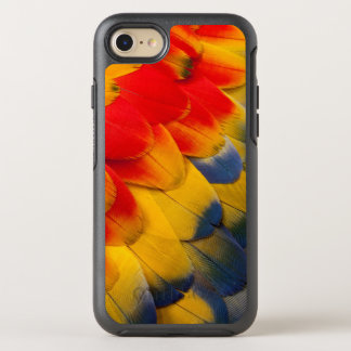 Scarlet Macaw feathers close-up OtterBox Symmetry iPhone 7 Case