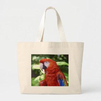 Scarlet Macaw Large Tote Bag