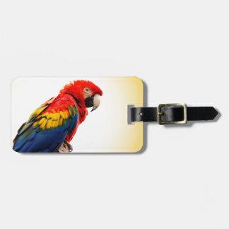 Scarlet Macaw Luggage Tag