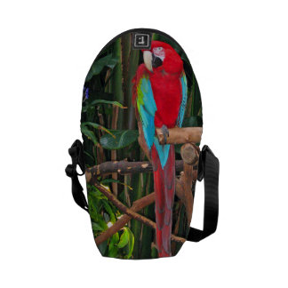 Scarlet Macaw Messenger Bag