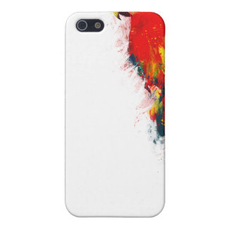 Scarlet Macaw Painted Case For The iPhone 5
