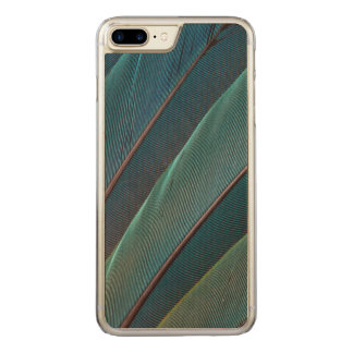 Scarlet macaw parrot feather carved iPhone 7 plus case