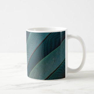 Scarlet macaw parrot feather coffee mug