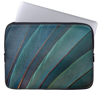 Scarlet macaw parrot feather laptop sleeve