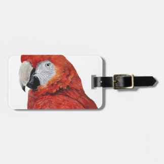 Scarlet Macaw Parrot gifts Luggage Tag