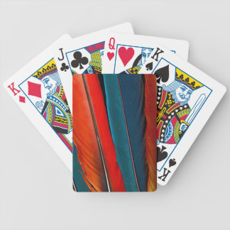 Scarlet Macaw Tail Feathers Bicycle Playing Cards