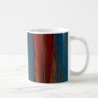 Scarlet Macaw Tail Feathers Coffee Mug